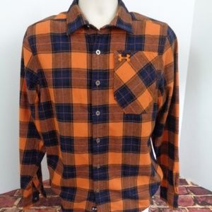 UNDER ARMOUR  Mens Flannel Cold Gear Shirt Small
